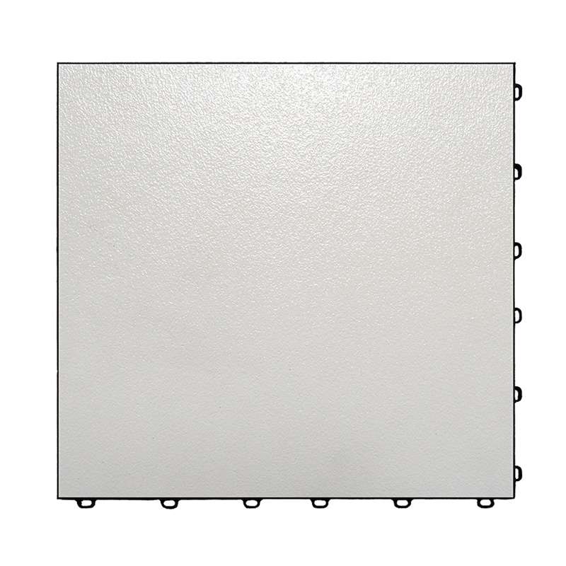 Vinyltrax Glossy White Floor Tiles - Event Show Flooring