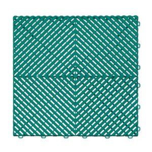 Ribtrax Teal Floor Tiles